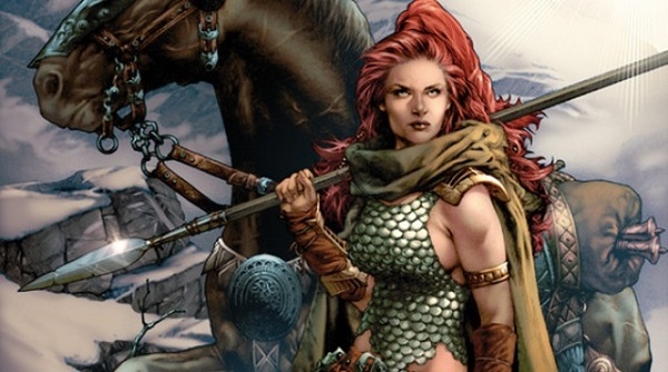 red sonja top